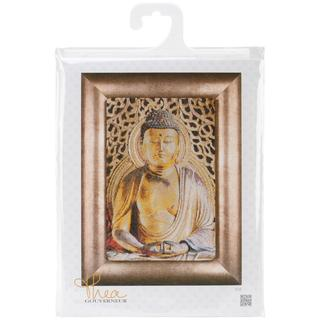 Buddha On Aida Counted Cross Stitch Kit - 8-3/4 X13 18 Count