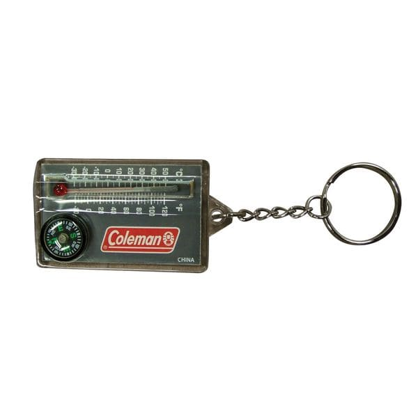 Coleman Zipper-pull Thermometer and Compass