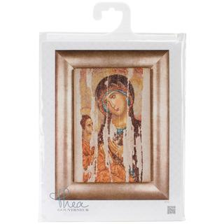 Icon Mother Of God On Aida Counted Cross Stitch Kit - 8-3/4 X13-1/4 18 Count