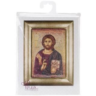 Icon Christ Pantokrator On Aida Counted Cross Stitch Kit - 8-3/4 X13-1/4 18 Count