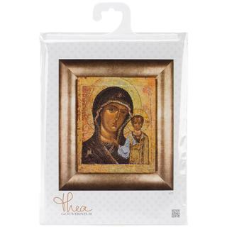 Icon Virgin Of Kazan On Aida Counted Cross Stitch Kit - 9-1/2 X11-3/4 18 Count