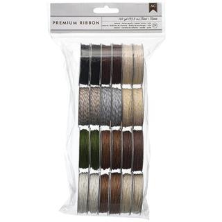 Value Pack Twine Assortment 5 Yards/Spool 24/Pkg - 12 Natural Colors/2 Each