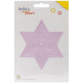 Nellie's Choice Multi Frame Dies - Star, 9/Pkg