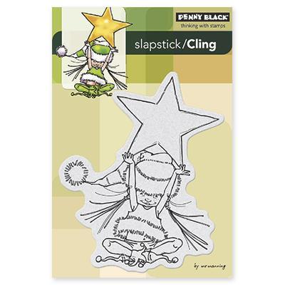 Penny Black Cling Rubber Stamp 4 X6 Sheet   Little Elf Ava