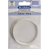 Flat Memory Wire Large Bracelet .048 X.020  .35oz - Silver Plated
