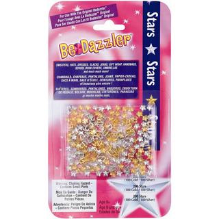 Be Dazzler Stud Refill 200/Pkg - Stars Gold & Silver