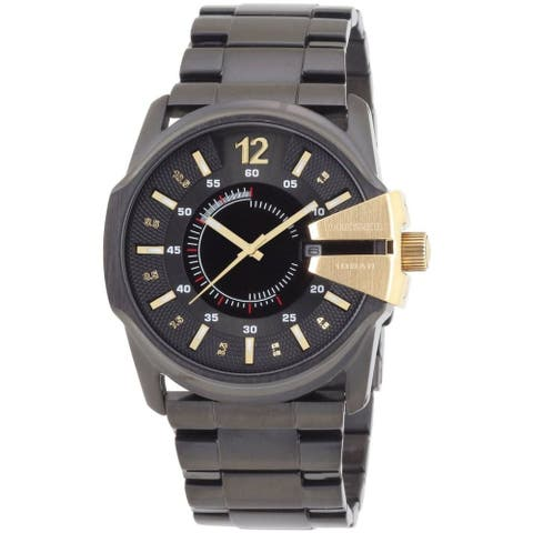 Diesel Men's DZ1209 Master Chief Black Stainless Steel Watch - 1 Size
