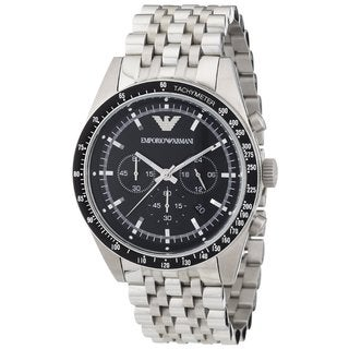 Armani Men's Sportivo Silver Chronograph Watch