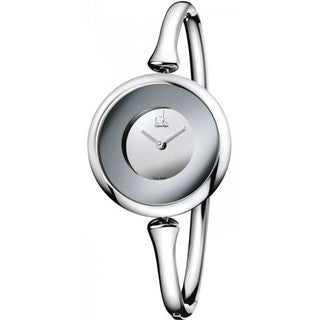 Calvin Klein Women's Sing Silvertone Bangle Watch