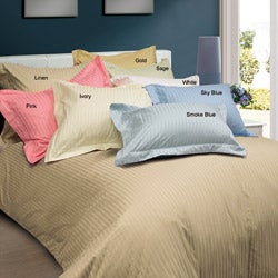 Damask 600 Thread Count 3-piece Duvet Cover Set