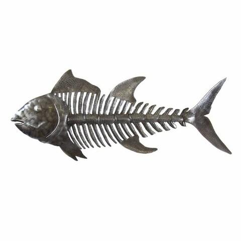 Handmade Fish Bones Metal Wall Art , Handmade in Haiti