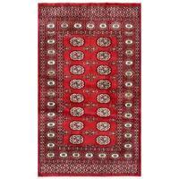 Herat Oriental Pakistani Hand-knotted Bokhara Wool Rug (3'1 x 4'11) - 3'1 x 4'11