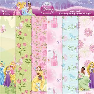 Disney Paper Pack 12 X12 12 Sheets - Princess