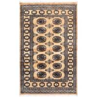 Herat Oriental Pakistani Hand-knotted Bokhara Wool Rug (3'2 x 4'11) - 3'2 x 4'11