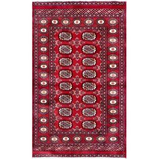 Herat Oriental Pakistani Hand-knotted Bokhara Wool Rug (3'1 x 5'1)
