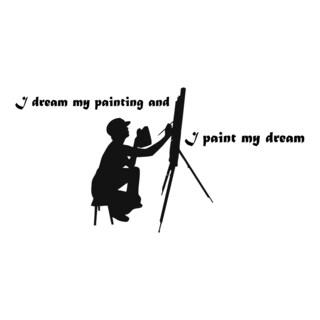 Art Quote 'I Dream My...' Black Vinyl Wall Decal Sticker