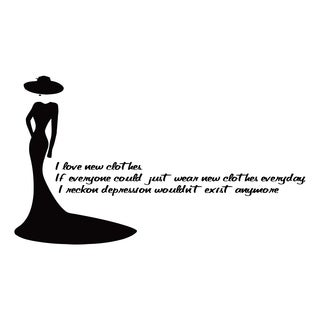Fashion Quote 'I Love New...' Black Vinyl Wall Decal Sticker