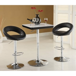Furniture of America Yoli 24.5-inch Height Adjustable Swivel Barstool (Set of 2)