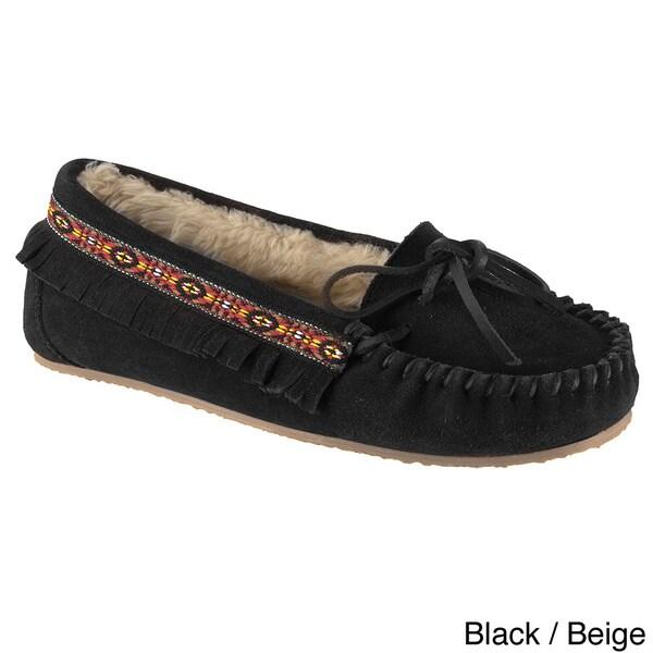 Lugz Women's 'Ohm' Slip-on Suede Moccasin Fringe Shoes
