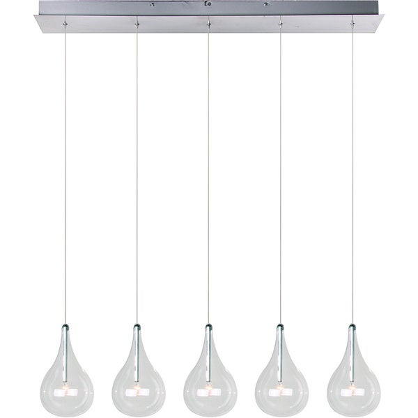 Maxim Larmes 5-light Polished Chrome Linear Pendant