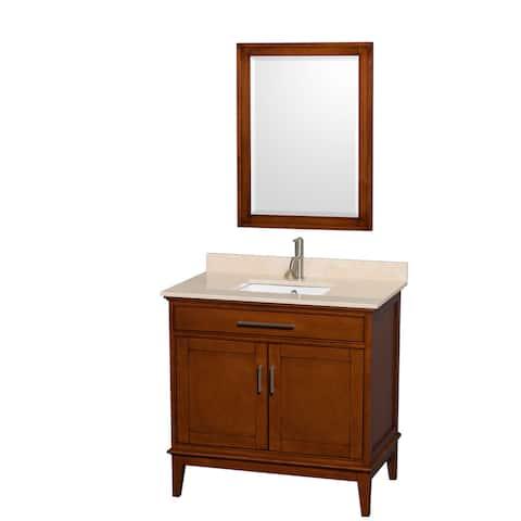 Wyndham Collection Hatton 36-inch Single Sink Light Chestnut Vanity