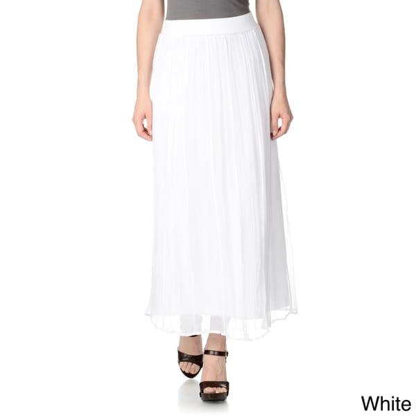 Tiered Ruffle Maxi Skirt Elegant Women Chiffon High Low Ruffles Long Spring Summer Style Beach Grace