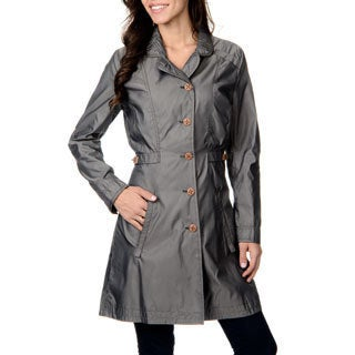 Women's 'Lettonie' Smoke Wooden Button-front Coat