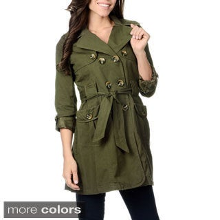 Women's 'Nepal' Double-breasted Short Trench Coat