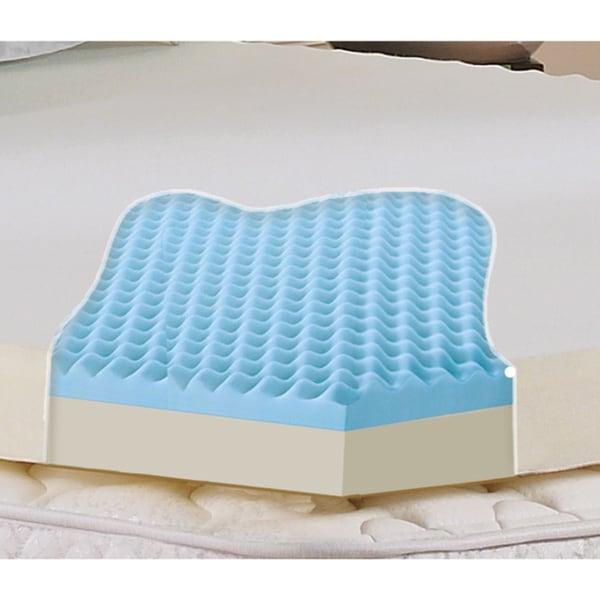 Serta Memory Foam 3-Inch Mattress Topper ... Dual-layer 3-inch Gel Memory Foam Mattress Topper with Washable Cover