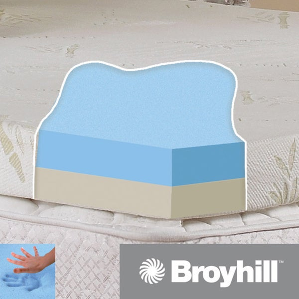 7fea3aedc281 Shop Broyhill Classic 4-inch Dual-layer Gel Infused Foam Mattress Topper  with Washable Cover - Free Shipping Today - Overstock.com - 8869266