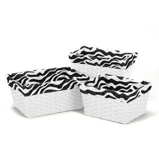 Sweet Jojo Designs Funky Zebra Basket Liners (Set of 3)