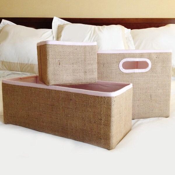 Collapsible Jute Storage Box