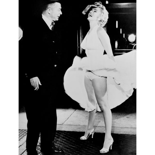Billy Wilder & Marilyn Monroe on Set of 'The Seven Year Itch' 1955 Frank Worth Lithograph