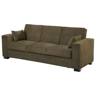 Serta Sabrina Pewter Convertible Sleeper Sofa Free Shipping Today Overstock