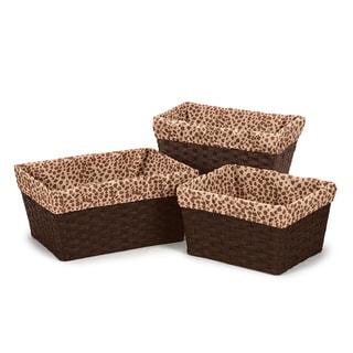 Sweet Jojo Designs Cheetah Girl Basket Liners (Set of 3)