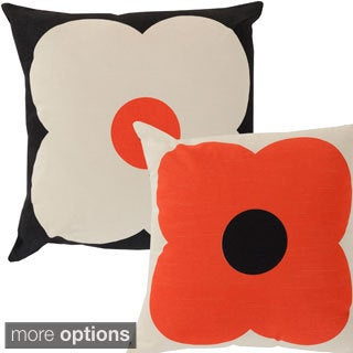 Floral 18-inch Reversible Decorative Down or Poly Fill Pillow