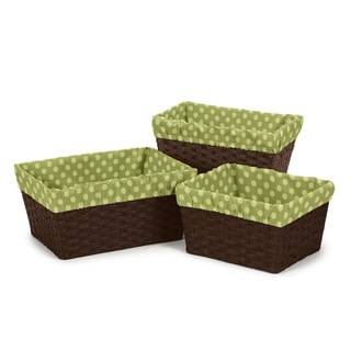 Sweet Jojo Designs Forest Friends Polka Dot Basket Liners (Set of 3)