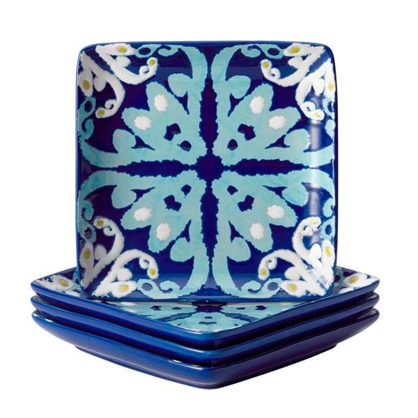 Rachael Ray Dinnerware Blue Ikat 4 Piece Stoneware