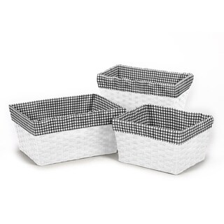 Sweet Jojo Designs Little Ladybug Gingham Basket Liners (Set of 3)