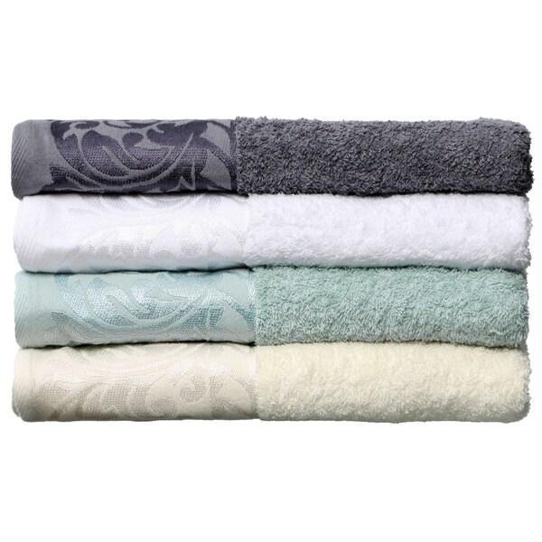 Jacquard Terry Scroll Design 6-piece Towel Set