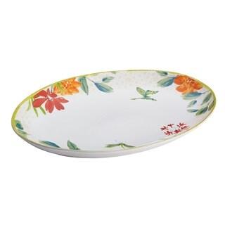 BonJour Dinnerware Al Fresco Stoneware 9 3/4 x 13-inch Oval Platter