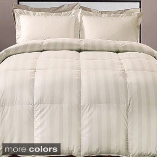 Hotel Grand Damask Stripe 800 Thread Count Cotton Rich Down Alternative Comforter (2 options available)