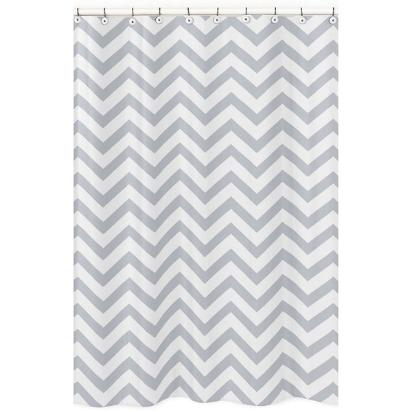 Shop Sweet Jojo Designs Grey White Chevron Zigzag Shower Curtain