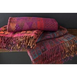 Rio Damask Wool Throw