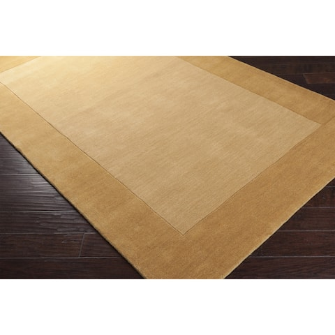 Harley Handmade Bordered Wool Area Rug