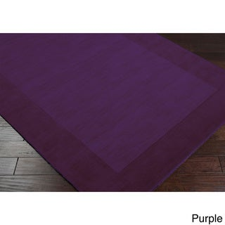 Hand Loomed Uganda Solid Bordered Tone-On-Tone Wool Area Rug (12' x 15')