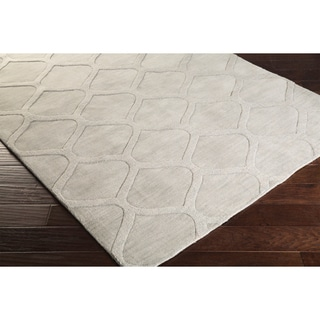 Hand Loomed Norco Casual Solid Tone-On-Tone Moroccan Trellis Wool Area Rug (8' x 11')
