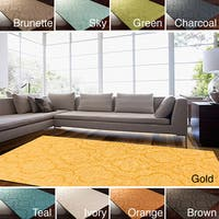 Hand Loomed Sedona Casual Solid Tone-On-Tone Moroccan Trellis Wool Area Rugs (8' x 11')