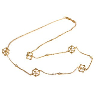 Sonia Bitton Yellow Goldplated Sterling Silver Cube Station Necklace