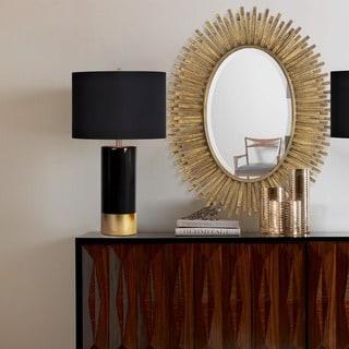 Ren Wil Renwil Sparta Antique Gold Leaf Mirror